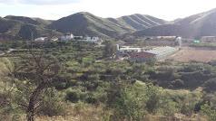 El paisaje de El Cañico está dominado por la granja porcina que opera en esta pedanía rural.
