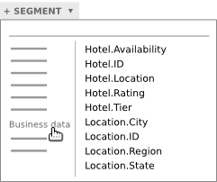 "Select ""Business data"" from the category list."