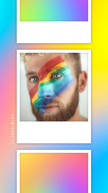 Pride Vibes - Facebook Story template