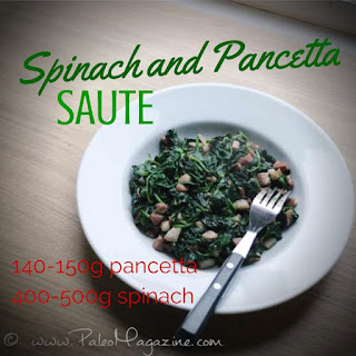 Spinach and Pancetta Saute Recipe