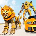 Lion Robot Car Transforming Games: Robot Shooting icon