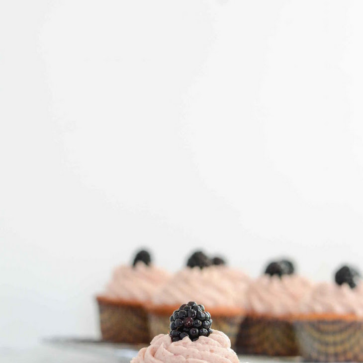 Lemon Blackberry Cupcakes {Gluten Free + Paleo} Recipe