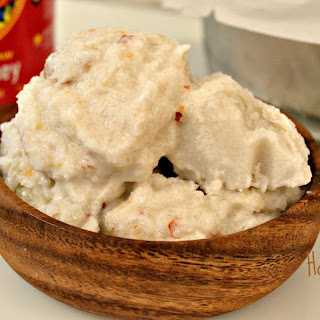 No Churn Honey Roasted Almond Vanilla Ice Cream {dairy free, gluten free, paleo}.