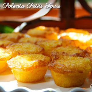 Orange Polenta Petits Fours