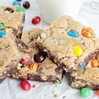 M&M's® Crispy and Peanut Butter Brookie Bars