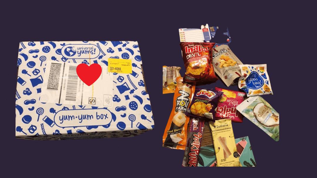 Yum Yum Box Christmas Subscription Box for Kindergarten