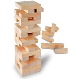 Joc de societate Turnul Instabil 54 piese lemn