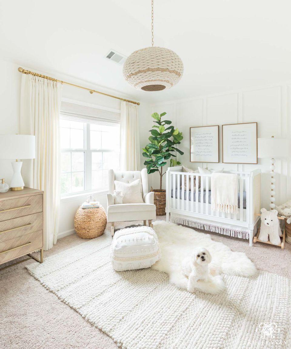 Inspirasi kamar tidur anak dengan elemen dekorasi alami dan organik - source: pinterest.com