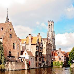 City of Brugge, Belgium by Karen Clemente - City,  Street & Park  Historic Districts ( belgium, travel, historic )