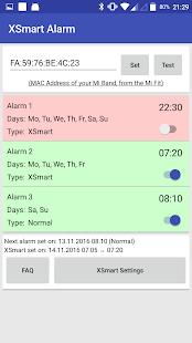 Mi Band Smart Alarm (XSmart) - náhled
