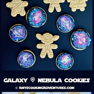Galaxy & Nebula Sugar Cookies.