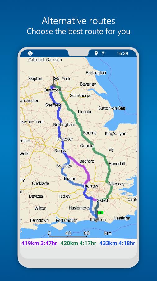 MapFactor GPS Navigation Maps Screenshot 6