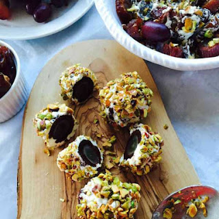 Dates, Grapes and Goat Cheese Super Balls Snack Recipe