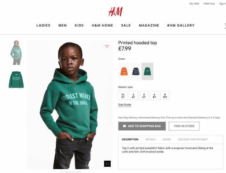 Hm Removes Black Boy Ad After Racism Accusation