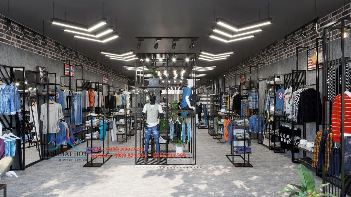 thiết kế shop quần áo thời trang nam