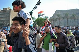 Photo: A family affair in Tahrir Square.
