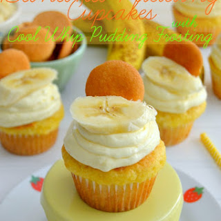 Banana Pudding Cupcakes with Cool Whip Pudding Frosting Recipe