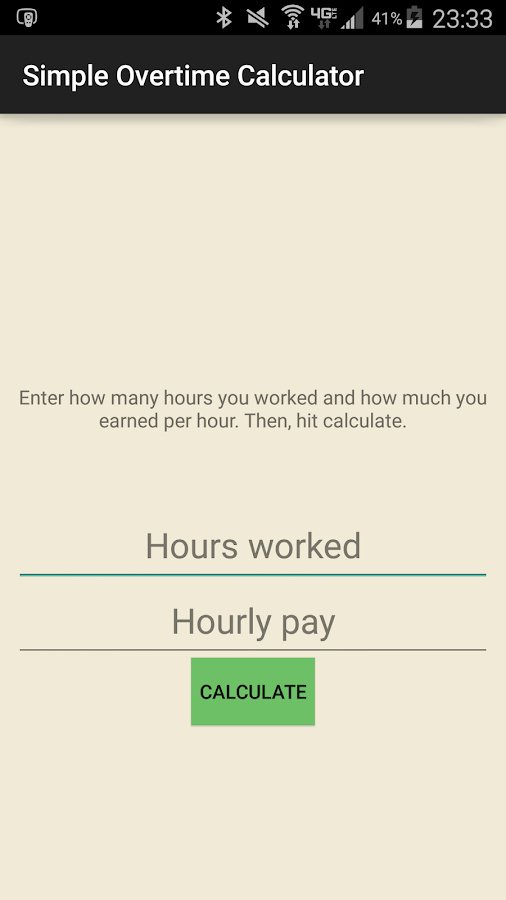 Simple Overtime Calculator Android Apps on Google Play – Overtime Calculator