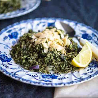 Spinach Almond Rice