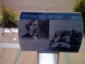 Photo: Mark Twain monument, Athenaeum walk, Indianapolis IN
