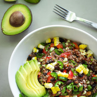 Spicy Red Quinoa Salad