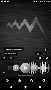 Poweramp v3 skin simple dark 1.0.7 [Mod + APK] Android 1