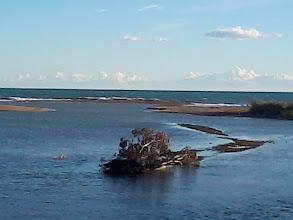 Photo: I går den 26 Jan. upptäcker vi att havet snart återlämnat stranden mella Bolnuevo och Bahaia