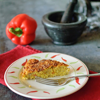 Courgette, Cheese And Chickpea Cake (gf).