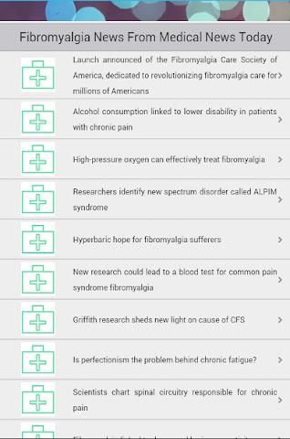 android Fibromyalgia Screenshot 1