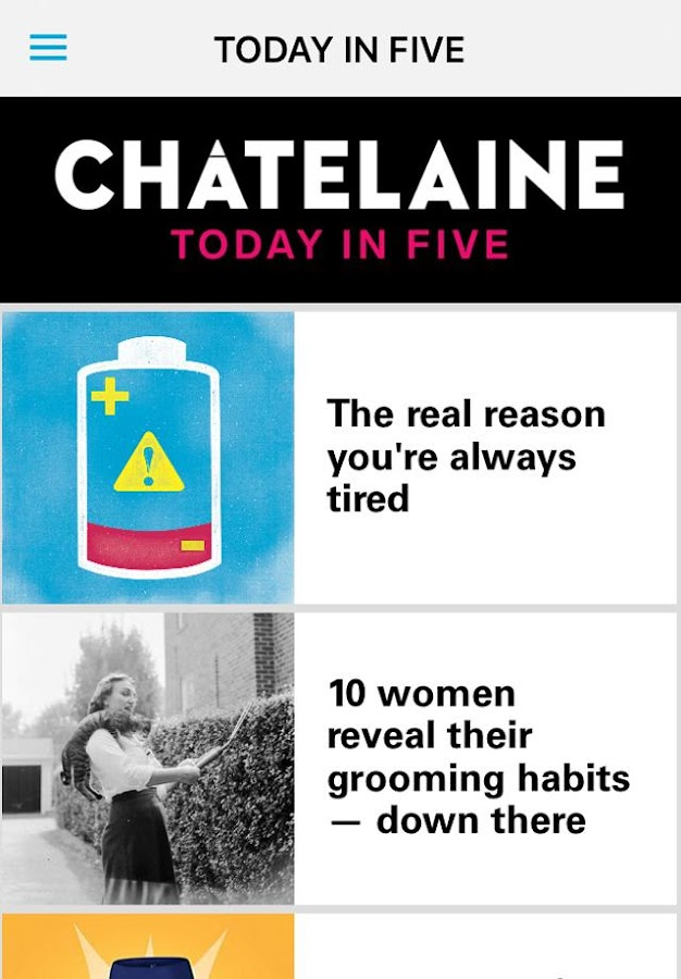 Chatelaine Magazine- screenshot