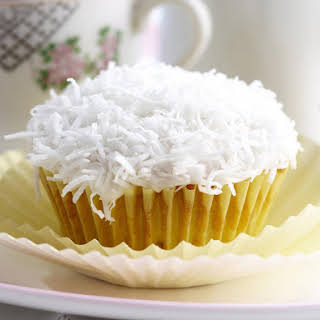 White Chocolate and Coconut Cupcakes.