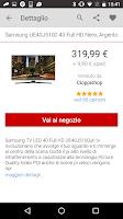 Screenshot of TrovaPrezzi prezzi e shopping