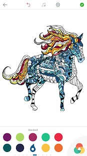 Horse Coloring Book for Adults- screenshot thumbnail