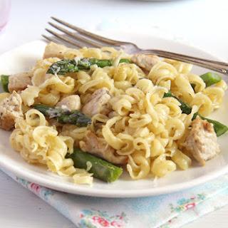 Asparagus Chicken Pasta Casserole.