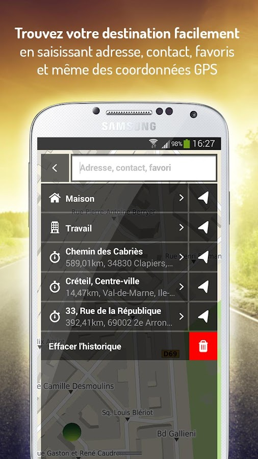 Mappy GPS Free – Capture d'écran