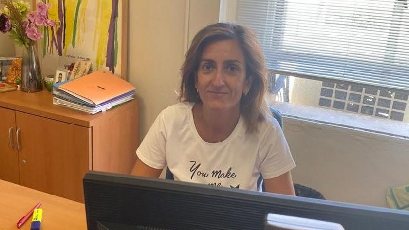Liliane López en su lugar de trabajo.