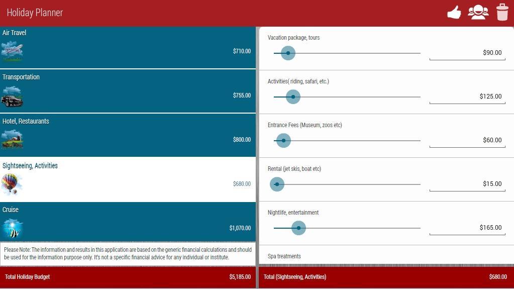 Holiday Planner Lite- screenshot