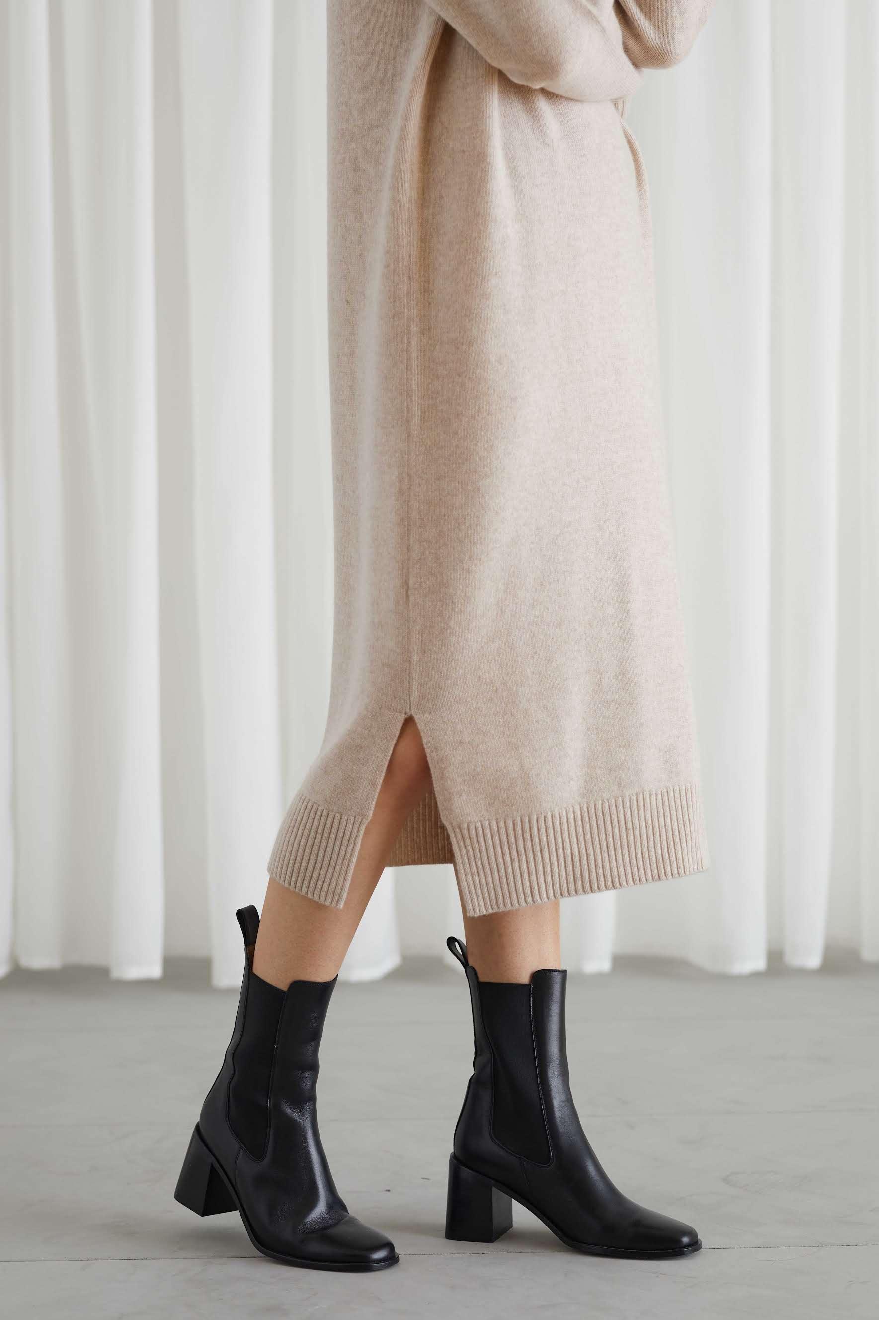 Chunky Roll Neck Dress