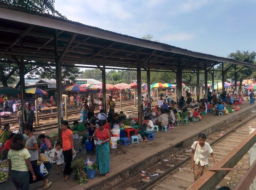 Market - Circular Train - Yangon