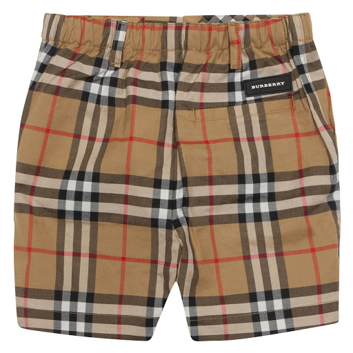 Thumbnail images of Burberry Baby Vintage Check Shorts