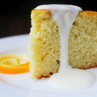 Spaghetti Squash Cake with Orange Cream