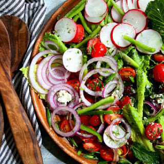 Greek Salad With Goat Cheese