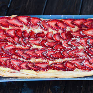 Strawberry and Custard Tart.