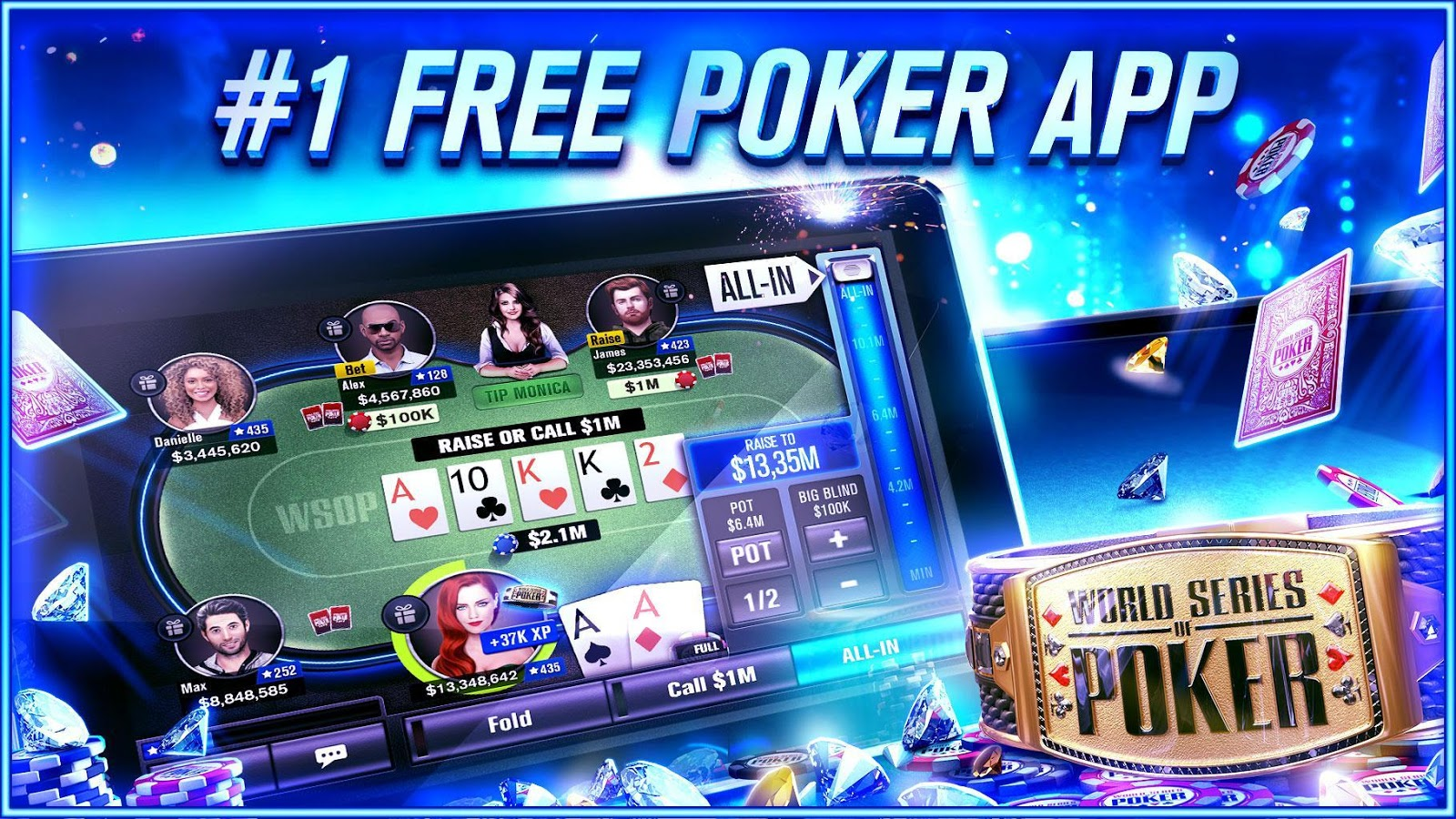 World Series of Poker – WSOP Free Texas Holdem- screenshot