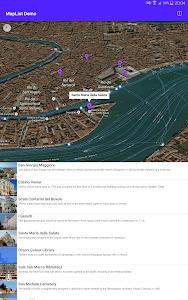 MapList Activity Demo screenshot 1