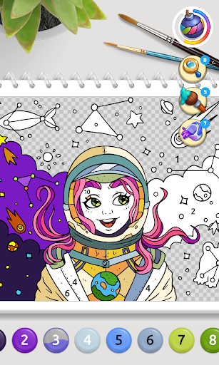 Color Stories: coloring casino & paint art gallery  screenshots 4