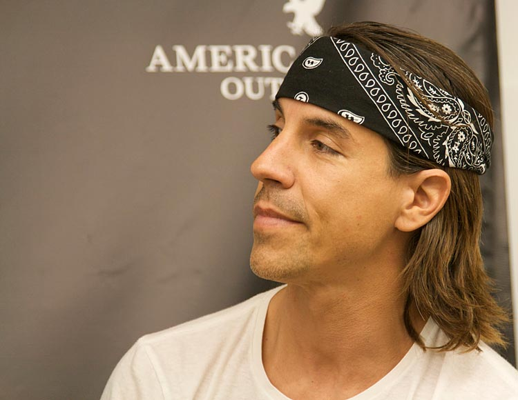 Anthony Kiedis, lead singer of the Red Hot Chili Peppers.