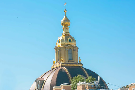 top-of-basilica.jpg - The cupola of Sts. Peter and Paul Cathedral, a popular tourist attraction in St. Petersburg, Russia.