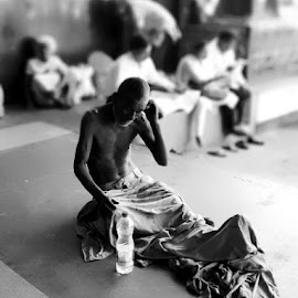 Adressless  by Surajit Das - People Portraits of Men ( old, homeless )
