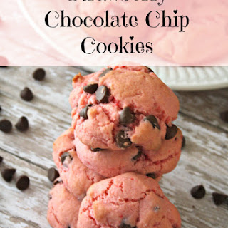 Strawberry Chocolate Chip Cookies.